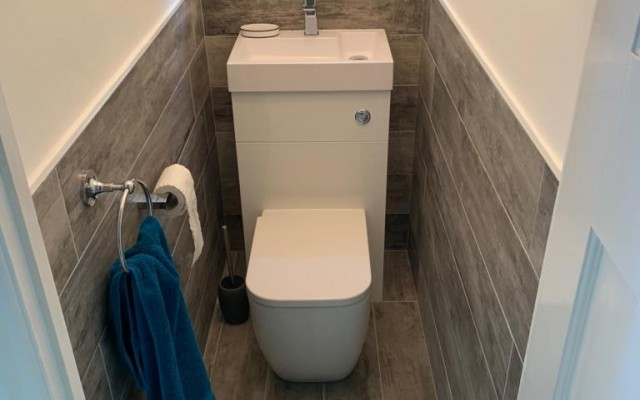 Small Cloakroom Installation in Croxley Green