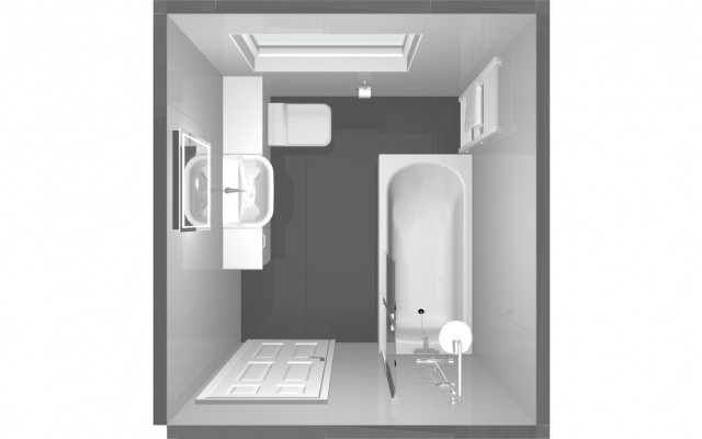 A bathroom design for a job in Croxley Green, Rickmansworth